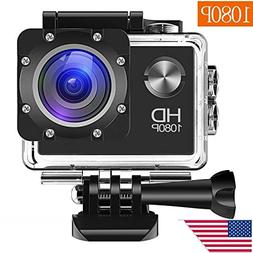 Wewdigi EV5000 Action Camera, 12MP 1080P 2 Inch LCD Screen,