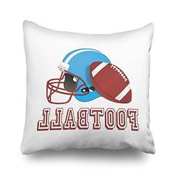 KJONG Football Helmet And Ball Zippered Pillow Cover,16X16 i