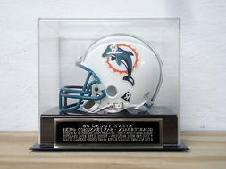 Football Mini Helmet Display Case W/ A Steve Young 49ers Eng