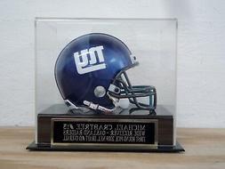 Football Mini Helmet Display Case W/ A Michael Crabtree Raid