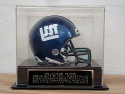 Football Mini Helmet Display Case With A Drew Brees Saints E