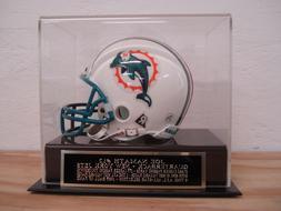 Football Mini Helmet Display Case With A Joe Namath New York