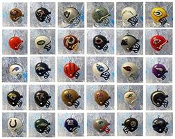 NFL FOOTBALL ORNAMENT SET of 32 MINI HELMET CHRISTMAS ORNAME
