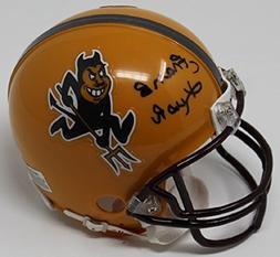Frank Kush Signed Mini Helmet Autographed Arizona State Sun