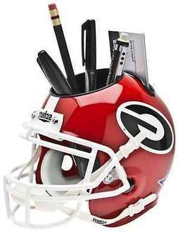GEORGIA BULLDOGS NCAA Schutt Mini Football Helmet DESK CADDY