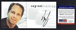 Gerhard Berger signed autograph pamphlet Former F1 Driver PS