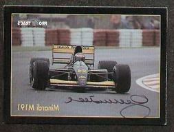 Gianni Morbidlli signed autographed F1 Pro Trac's Card