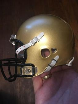 Gold  Blank Riddell Revolution SPEED Mini Football Helmet