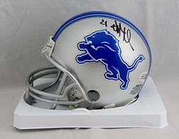 Golden Tate Autographed Detroit Lions Mini Helmet - Beckett