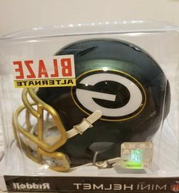 Green Bay Packers Riddell BLAZE Alternate Speed Mini Helmet