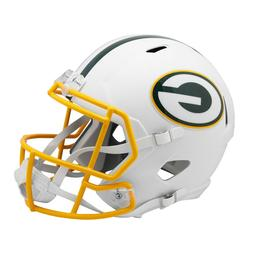GREEN BAY PACKERS RIDDELL FLAT WHITE MATTE SPEED MINI HELMET