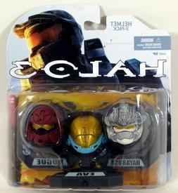 McFarlane Toys Halo 3 Mini Helmet 3-Pack - HAYABUSA, EVA, RO