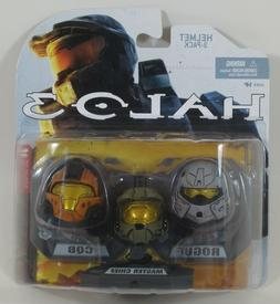 HALO Helmet 3PKs Series 1 - Set 3: Master Chief , Rogue , CQ
