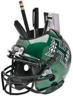 HAWAII WARRIORS NCAA Mini Football Helmet DESK ORGANIZER Off