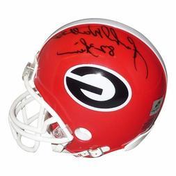 "Herschel Walker Autographed Georgia Bulldogs Mini Helmet w/"""
