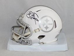 Hines Ward Signed Pittsburgh Steelers Ice Mini Helmet- JSA A