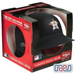 Houston Astros Matte Black Rawlings Mini MLB Baseball Battin