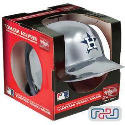 Houston Astros Silver Chrome Rawlings Mini MLB Baseball Batt