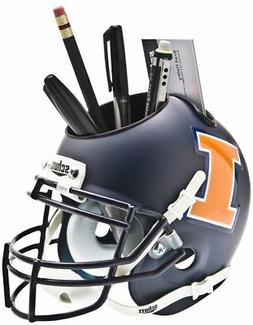 ILLINOIS FIGHTING ILLINI NCAA Schutt Mini Football Helmet DE