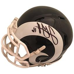 jared goff autographed los angeles rams signed