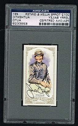 Jerry Bailey 2012 Topps Allen and Ginter's MINI signed autog