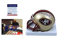 Jerry Rice Signed Mini Helmet - San Francisco 49ers Autograp