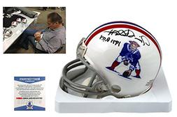 Jim Plunkett Signed New England Patriots Mini-Helmet - Becke