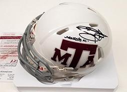 Johnny Manziel Signed Auto White Mini Helmet Texas A&M Aggie