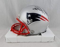 Josh Gordon Autographed New England Patriots Mini Helmet - J