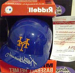Keith Hernandez autographed New York Mets Mini Batting Helme