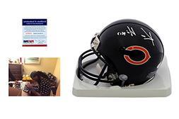 Kevin White Signed Chicago Bears Mini Helmet w/ Photo - JSA