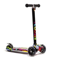 KAMURES Kick Scooter, 4 Adjustable Height Mini Kids Scooter