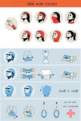 White Ice Headband Seamless Face Mask Bandanas Outdoor Headwear