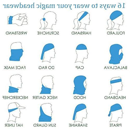 White Wolf Headband Elastic Seamless Face Mask Bandanas Neck Outdoor Headwear Scarf,Balaclava,Helmet