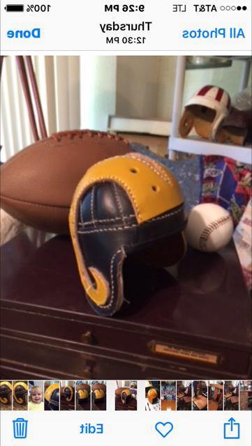 1940 Rams Mini Historic Leather Helmet