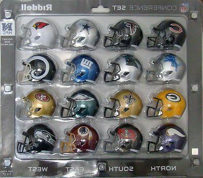 16 NFL Pocket Pro Size SPEED Mini Helmets - NFC Set by Ridde