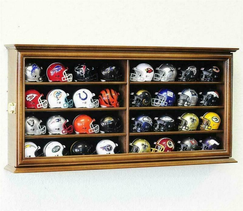 32 Pocket Mini Helmet Display Case Cabinet