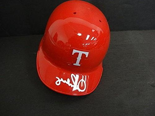 Alex Rodriguez Signed Rangers Mini Helmet Autographed Signat