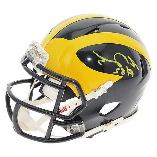 Amara Darboh Autographed Michigan Wolverines Speed Mini Helm