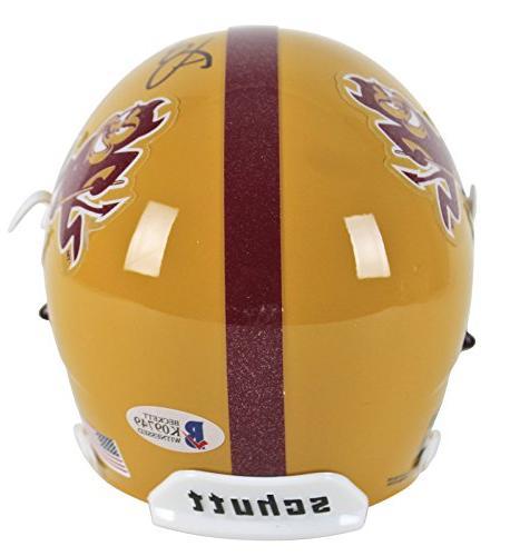 Asu Darren Woodson The Autographed Mini Helmet Witnessed - Certified