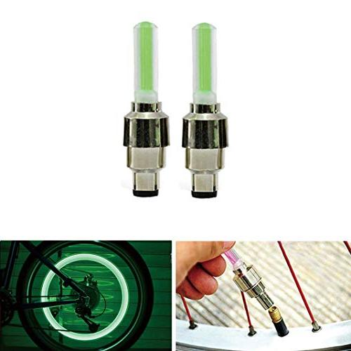 2PCS LED Flash Tyre Wheel Valve Cap Light for Car Bike Bicycle Motorbicycle Hot
