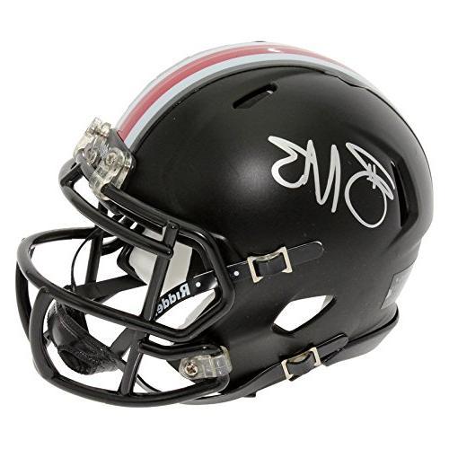 Braxton Miller Autographed Ohio State Black Speed Mini Helme