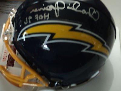 Charlie Joiner signed Chargers mini helmet, JSA Witness, HOF