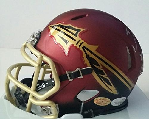 Dalvin Cook Autographed Signed Mini Helmet Florida State Sem