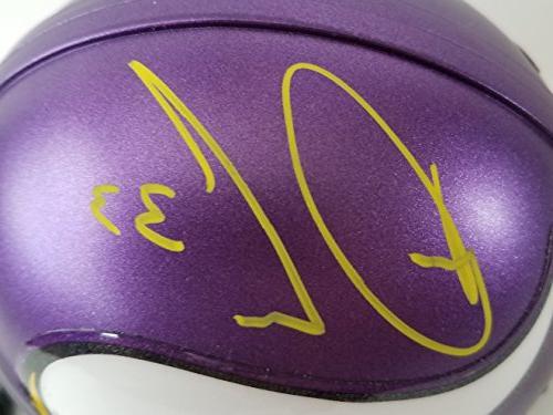 Dalvin Cook Autographed Signed Mini Vikings JSA