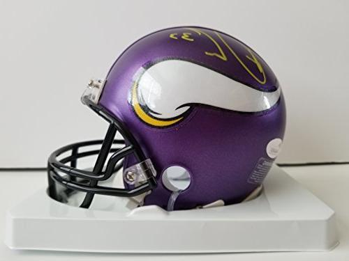 Dalvin Cook Autographed Signed Mini Helmet Minnesota Vikings