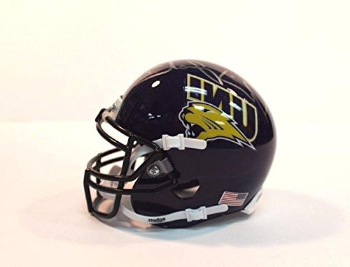 David Johnson  Signed Mini Helmet - Univ of Northern Iowa WP