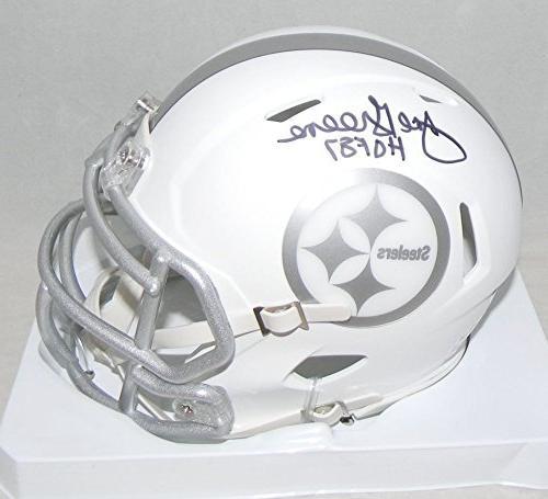 Joe Greene Signed Pittsburgh Steelers Ice Speed Mini Helmet