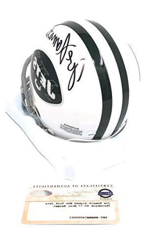 Joe Namath New Jets Mini Helmet Certified