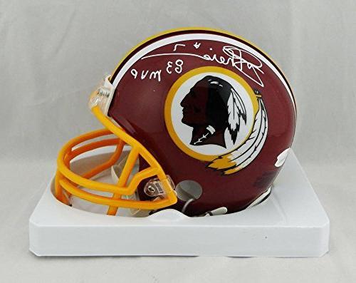 Joe Theismann Signed Redskins TB 82 Mini Helmet W/ 83 MVP- J